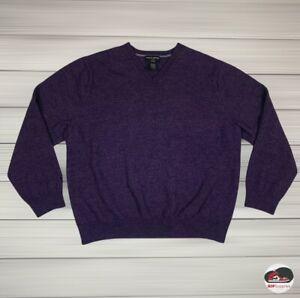 Banana Republic Merino Wool V Neck Purple Boys Sweater Youth Size XXL