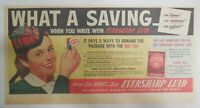 Eversharp Red Top Lead Ad: What A Savings ! Scotch Girl from 1940's Size:7 x 15