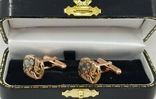 Original Omega Movements Cal 484 Rose Gold Plated Sterling 925 Silver Cufflinks