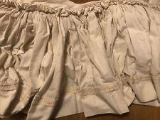 Vintage Bed Skirt Crochet Lace, Antique Cream Color 3 quarter size or double