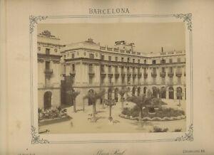 Vintage 10 x 12 Armoire Photo Plaza Véritable Barcelone Espagne