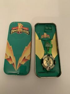 Vintage Mighty Morphin Power Rangers Collector's Tin MMPR Box Case Green
