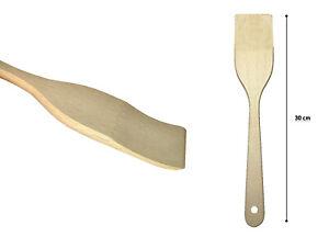 3x PINI Pfannenwender 30 cm aus Buchenholz Holzschaber Pfannenheber Bratenwender