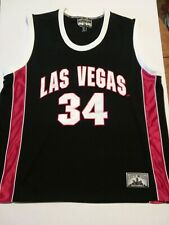 STEVE & BARRY'S LAS VEGAS 34 BASKETBALL XL BLACK RED & WHITE CITY WIDE JERSEY