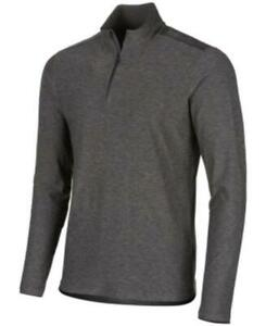 MSRP $40 Ideology Men's Core Bonded Quarter-Zip Pullover Gray Size Small