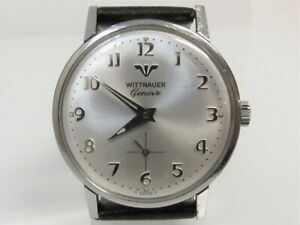 Vintage 1960's WITTNAUER Men's WRISTWATCH Swiss STAINLESS STEEL 17J NICE!