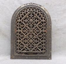 Antique Cast Iron Arch Top Dome Heat Grate Wall Register Gothic Vtg 12X8 48-17P