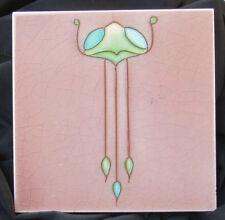 Unusual Tubelined 'Alien' Art Nouveau Tile