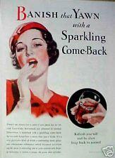1933 Coca-Cola Soda-Pop Women Coke Glass Art Print Ad