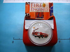 FIRE ENGINE 2006 PERTH MINT SERIES COOK ISLANDS 999 SILVER COIN BOX READ LISTING