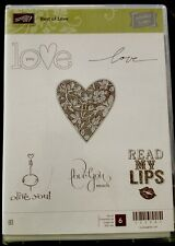 "BEST OF LOVE"" Stampin'UP! NEW~CLEAR/CLING unmounted- Heart, Sayings, Lips, LOVE"