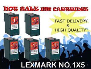 5 x Lexmark No 1 18C0781 Ink Cartridge for lexmark printer