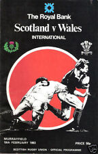 SCOTLAND v WALES 1983 RUGBY PROGRAMME at MURRAYFIELD