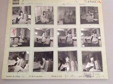 YVETTE HORNER : PLANCHE CONTACT ORIGINALE DE 1962 : 12 PHOTOS  6x6cm