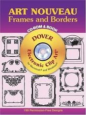 Art Nouveau Frames and Borders CD-ROM and Book Dover Electronic Clip Art
