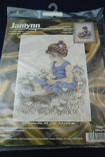 "Counted Cross Stitch Kit ""Daisy Girl"" by Janlynn #29-20; Nancy Cole; New Sealed"