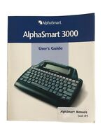 ALPHASMART 3000 Portable Word Processor User Guide Instructions Only Excellent!