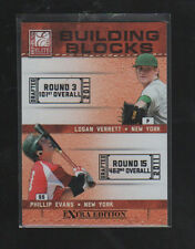 LOGAN VERRETT / PHILLIP EVANS  2011 ELITE EXTRA EDITION BUILDING BLOCKS DUAL #6