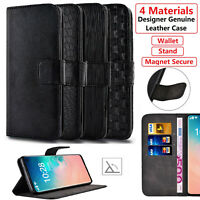 Samsung Galaxy S10 Plus + S9 S8 A40 A70 Case Luxury Genuine Leather Wallet Cover