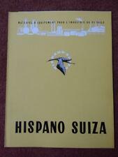 1960 DEPLIANT HISPANO-SUIZA EQUIPEMENT INDUSTRIE PETROLE DIESEL ENGINE TURBINE