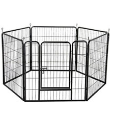 Large 6 Panel Dog Playpen Pet Exercise Pen Pets Puppy Play Cage Outdoor 80x80cm