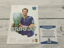 Andy Murray Signed Autographed 5x7 W&S Card Beckett BAS COA b