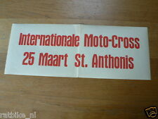 65 FLYER MINIPOSTER INT. MOTOCROSS 25 MAART ST.ANTHONIS
