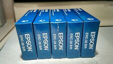 5 Genuine Epson ERC-38 B/R Ink Ribbons,Black/ Red #C43S015376