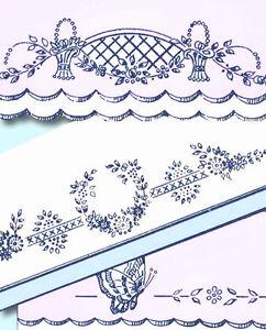 1930s Beautiful Pillowcases Uncut Betty Burton Embroidery Transfer 1630