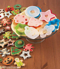 Holiday Decorating 24 piece Cookie Cutters Stencils Crafts Christmas Halloween