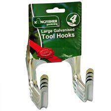 Kingfisher Galvanised Large Tool Hooks 4 Pack Storage Hooks