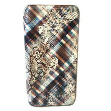 Ted Baker iPhone X XS Snake Print Tartan Beige Full Case Folio Cover Mirror