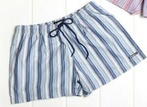 Punto Blanco Mens Blue Striped Swim Shorts / Trunks