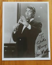Dean Martin Signed 8 x 10 Photo Personalized