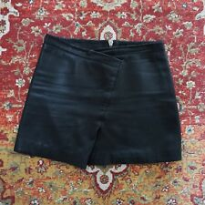 All Saints Black Leather Mini Skirt 10