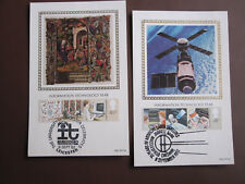 GB 1982 Technology set on 2 Benham Silk cards - different FDI cancels