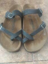 BIRKENSTOCK Mayari Size 39 250 Black Oiled Leather Sandal L8 - M6.5