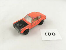 MATCHBOX LESNEY #54C FORD CAPRI SUPERFAST ORIGINAL DIECAST CAR 1971 ORANGE/BLACK