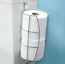 Chrome Toilet Roll Holder Over Water Tank Hanging Caddy Storage Dispenser Public