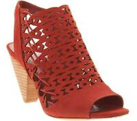 Vince Camuto Nubuck Cut-Out Heeled Sandals, Emberla Size 6.5