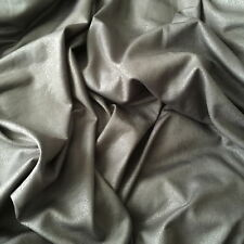 Crushed Foil Leather look Stretch Jersey Fabric in 5 Natural Earth Tones