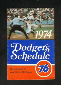 Los Angeles Dodgers--1974 Pocket Schedule--Union 76