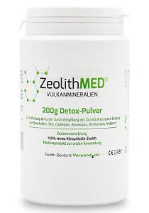 Zeolith MED® Detox-Pulver 200g, CE-geprüftes Medizinprodukt
