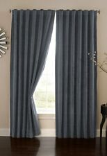 NEW Absolute Zero Velvet Blackout Home Theater Curtain Panel 95 Inch Stone Blue