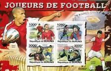 Los jugadores de fútbol (Ronaldo/Messi/Kaka/Neuer hoja de sellos) de #1 de 5 (2011 Burundi)