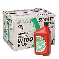 Aeroshell W100 PLUS Oil. Case (12 quarts)