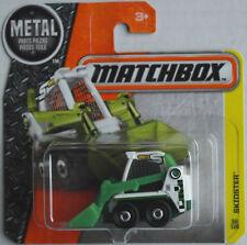 Matchbox Skidster Minibagger weiß/grün Neu/OVP Bagger Baustelle Construction MBX