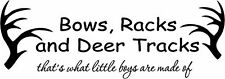 BOWS RACKS AND DEER TRACKS Wall Decal Hunting Quote Vinyl Art Home