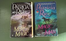 PATRICIA RICE * 2 Historical Romance Paperback Books * Merely Magic & Magic Man