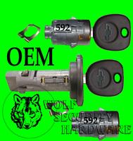 GMC Sonoma S15 82-94 /& Others Ignition /& Door Lock Cylinder Set Black 2 GM Key